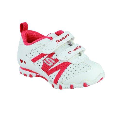 Skechers SK82688 - Baskets - Fille Blanc/Rouge