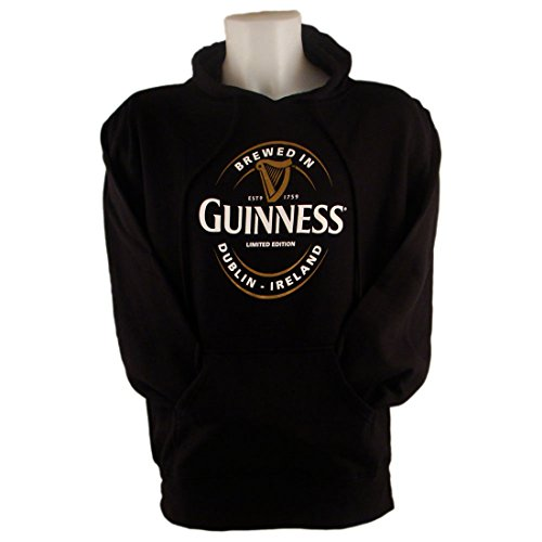 pull-a-capuche-guinness-avec-imprime-grande-etiquette-brewed-in-dublin-couleur-noire