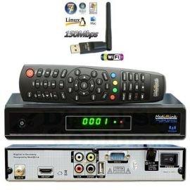 Medialink Smart Home DVB-S2 FTA IPTV Full HDTV Sat Receiver + Medialink IXUSS USB WiFi WLAN Adapter 150 Mbit/s