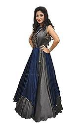 Omstar Fashion Womens Raw Silk Anarkali Lehenga Choli (Omd_01_15_Grey_42)