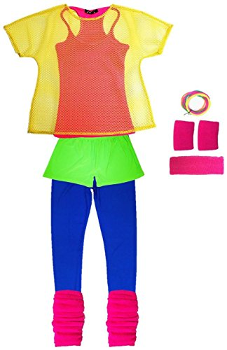 80er Neon Outfit (Workout Outfits 80er)