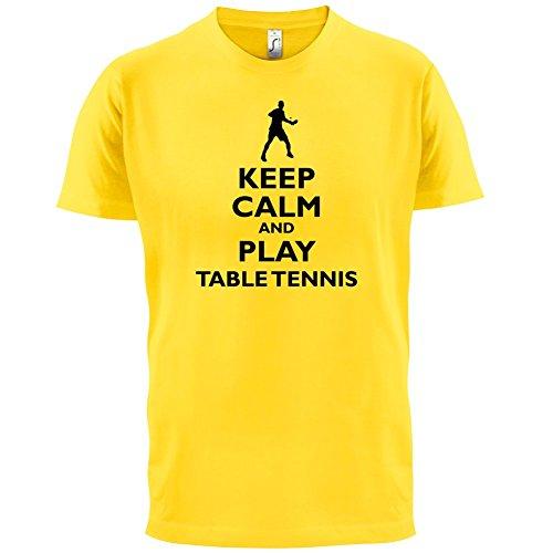 Keep Calm and Play Table Tennis - Herren T-Shirt - 13 Farben Gelb