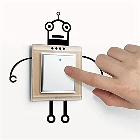 Mark8shop Fashion Robot Switch Sticker Living Room Wall Poster