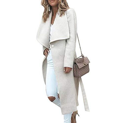 4dcab970792 Happy Towns Winter Warm Women Long Sleeve Coat Woolen Overcoat Long Coat  Loose Outwear for Women