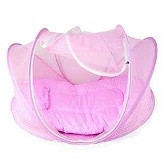 Jungen Baby Infant Pop-Up Tienda de campaña para la playa de almohada de cama Dosel Mosquitera Cotton-Padded colchón