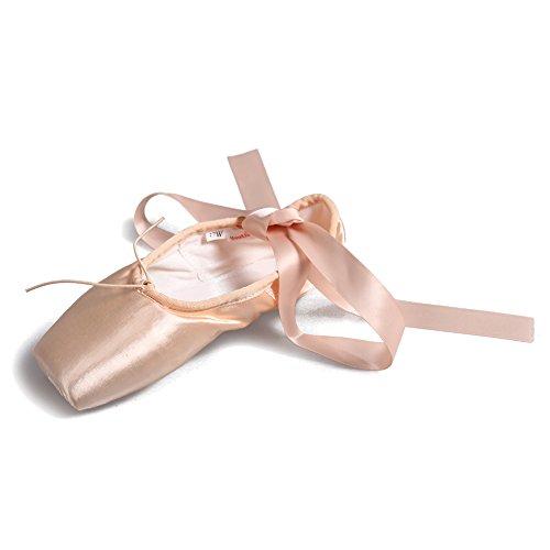HROYL pour l'fille/femme Chaussons de danse Balletto en Soie FR-ZAB Rose