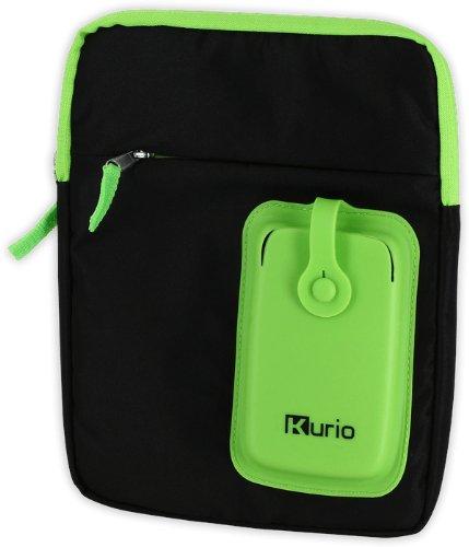 Kurio MERONCOURT tragen Schulter Tasche für 4-25,4cm Gerät-Grün/Schwarz (7 Zoll Tasche Tablet Kurio)
