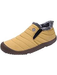 newest c78e2 eea13 ALIKEEY Hombres ❤ Antideslizante Más Terciopelo Caliente Zapatos De Algodón  Botas De Nieve Botines Zapatos