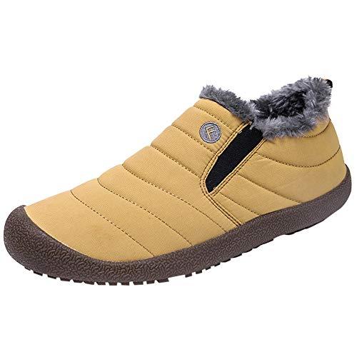 Herren Damen Winterschuhe Schnee Stiefel Plus SAMT Wasserdichte Baumwolle Schuhe Booties Kind Schneeschuhe,Boots Damen GefüTtert Schwarz,Heißer