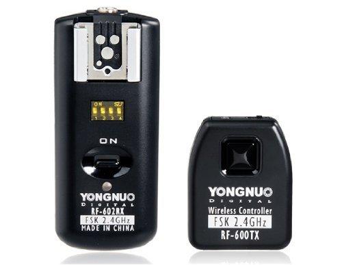 YONGNUO RF-602/N Funkauslöser und Blitzauslöser für Nikon + NAMVO Diffusor