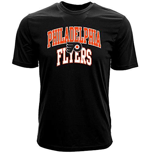 Levelwear NHL Philadelphia Flyers Mens Performance Arch Richmond Mens Tee, Black, Small (Philadelphia Flyers T-shirt Herren)