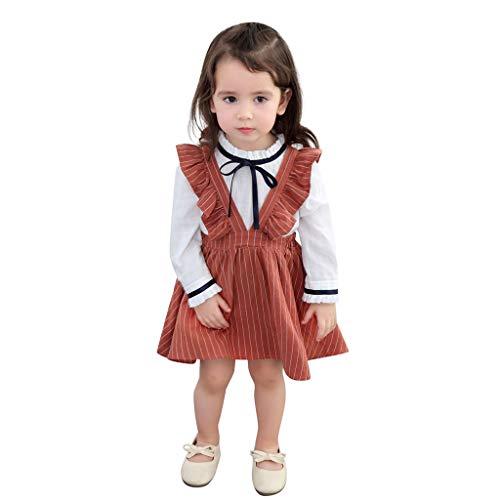 JUTOO Kleinkind Kinder Baby mädchen Kleidung ärmellose rüschen Streifen Party niedlich Prinzessin Kleider ()