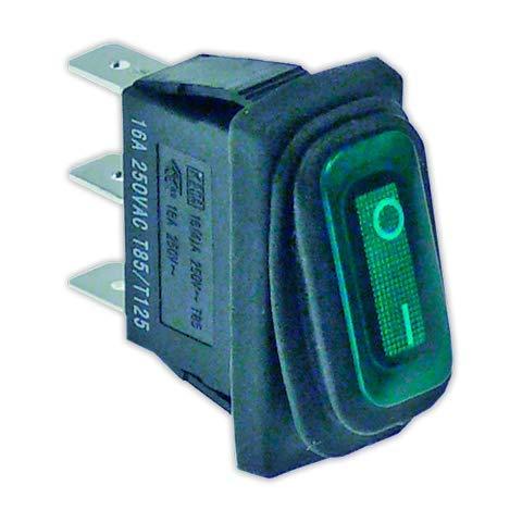 DOJA Industrial   Interruptor 11x30 mm I verde con piloto   Interruptores...