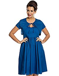 Lindy Bop Liana Royal Blue Swing Dress and Bolero Set
