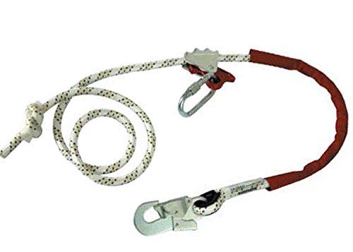 Halteseil mit Seilkürzer PROT3 EN358 CE0082 Absturzsicherung Verbindungsmittel Bandfalldämpfer Falldämpfer Gerüstbau Dachdecker PSA