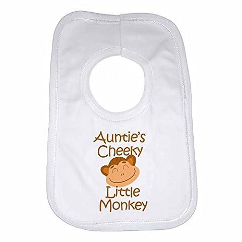 Auntie de singe Coquin Little–personnalisée Bavoir Bébé, Enfant pour garçons,