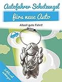 Auto Schlüsselanhänger Schutzengel - Schlüsselanhänger aus Metall für das Neue Auto - Art & Emotions - Geschenkidee für deinen Lieblingsmenschen - Glücksbringer für Ihre Liebsten