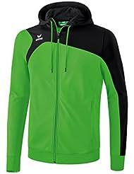 Erima Club 19002.0–Chaqueta de entrenamiento con capucha, todo el año, hombre, color Verde, negro, tamaño medium
