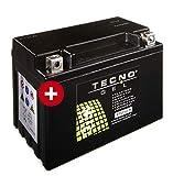 TECNO-GEL Motorrad-Batterie YTZ12-S für BMW, Honda, 12V Gel-Batterie 11 Ah (DIN 50901), 150x87x110 mm