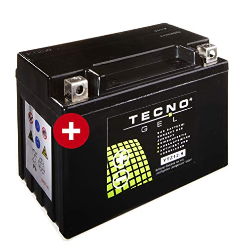 Preisvergleich Produktbild TECNO-GEL Motorrad-Batterie YTZ12-S für BMW, Honda, 12V Gel-Batterie 11 Ah (DIN 50901), 150x87x110 mm