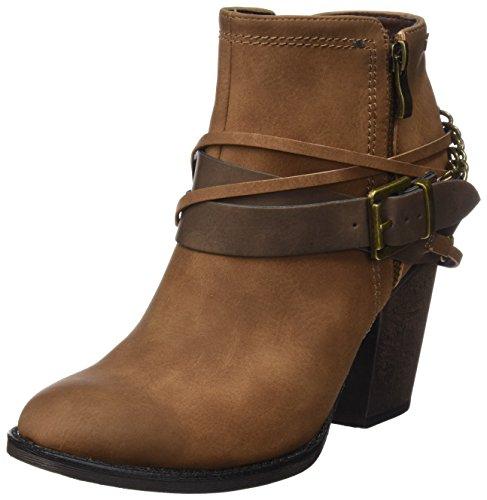 MTNG Collection (MTNGC) 51590, Stivali alla caviglia con tacco Donna, Marrone (SUED CUERO), 38 EU