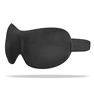 TROP Komfort Schlafmaske aus samtweichem, seidigen Stoff und mit verstellbarem Gummiband - für einen ungestörten und erholsamen Schlaf