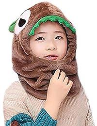 Copricapo per Bambini Caldo Autunno e Inverno Cartone Animato Doppio Strato  in Pile Foderato Paraorecchie Cappello di un Pezzo… 6bea76d590d0