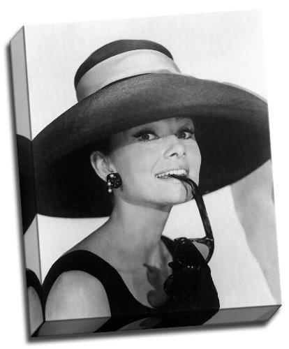 Audrey Hepburn Kunstdruck 40 x 50 cm gerahmt und fertig zum Aufhängen
