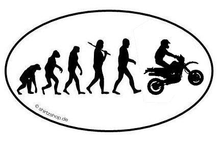 Enduro Moped Motocross Evolution Aufkleber Autoaufkleber Sticker Vinylaufkleber Decal