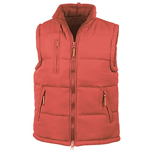 Result Womens Hooded Micro Quilted Bodywarmer Gilet red