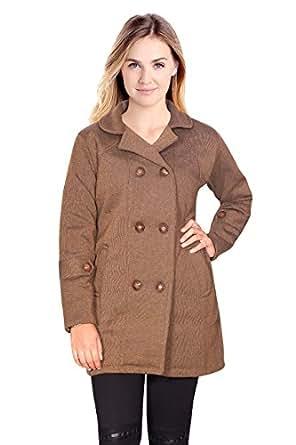 Miss Maria Women's Wool Coat (camel, L)