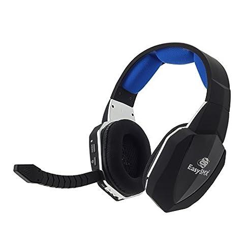 EasySMX 2.4GHz Wireless Gaming Headset für Xbox 360/Xbox ONE/PS3/PS4 mit abnehmbarem Mikrofon USB2.0 Akku (einem Microsoft-Adapter oder Kinect ist für die Verwendung mit XBOX