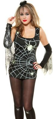 ADIES FANCY DRESS COSTUME OUTFIT, SIZE: MEDIUM (12-14) by JoJo's Costumes (Spider-woman Outfit)