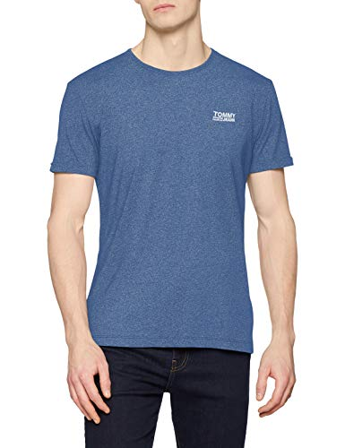 Tommy Jeans Herren Modern Jaspe  Kurzarm  T-Shirt Blau (Limoges 434) X-Large (Herstellergröße: XL)
