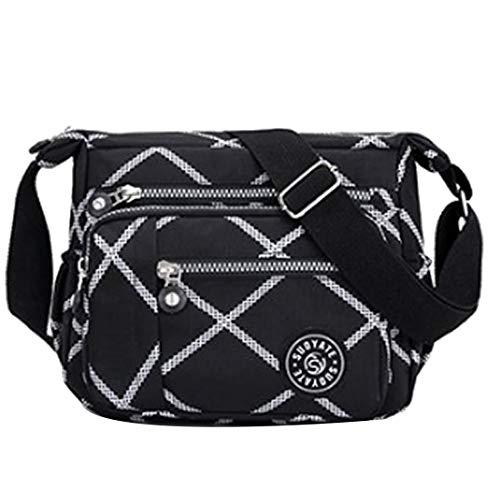 Sabarry Damen sportliche Handtasche Umhängetasche Schultertasche aus Nylon (7)