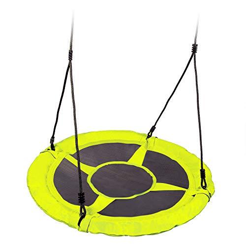 Neo-Sport Tellerschaukel Nestschaukel Gartenschaukel Kinderschaukel rund Durchmesser 95 cm 150kg SWINGO 1003