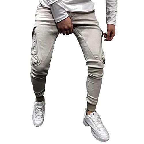 Aiserkly Herren Cargo Hose Freizeithose Militär Army Chino Feldhose Outdoorhose Rangerhose Stoffhose Big Star Bootcut Jeans