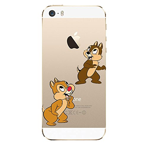 "SuperHero ""Disney Cartoon & Clear-Cover morbida in TPU per Apple Iphone 5, motivo: & %2F5S 6 6 Plus, plastica, CHIP & DALE, Apple iPhone 6"