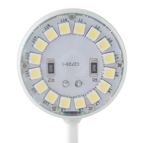 Hffheer 3W LED Aquarium Licht Flexible Schwanenhals USB Lollipop Aquarium Lampe Aquarium Micro Landschaft Licht für Tag und Nacht mit Saugnapf -