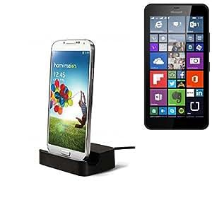Micro station d'accueil USB adapté pour le Microsoft Lumia 640 XL LTE, noir | station de charge, y compris le câble de données USB 2.0 câble / chargeur, Dock Cradle chargeur de bureau universelle pour Smartphone Téléphone portable avec connecteur Micro USB, chargeur chargeur de bureau, Marque: K-S-Trade (TM). compatible avec Microsoft Lumia 640 XL LTE ***** => Article est disponible à partir de K-S-Trade! Pressez le bouton JAUNE pour acheter =>
