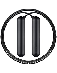 """TANGRAM - CORDE A SAUTER CONNECTEE - SMART ROPE - poignées """"NOIRES"""" Taille S (pour personne mesurant entre 1m52 et 1m64)"""
