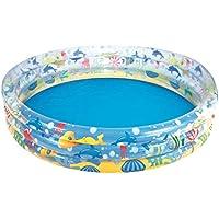 Swimmingpool rund Ø 1,52 cm 3 Ringe Höhe 30 cm Planschbecken Pool BESTWAY #51026