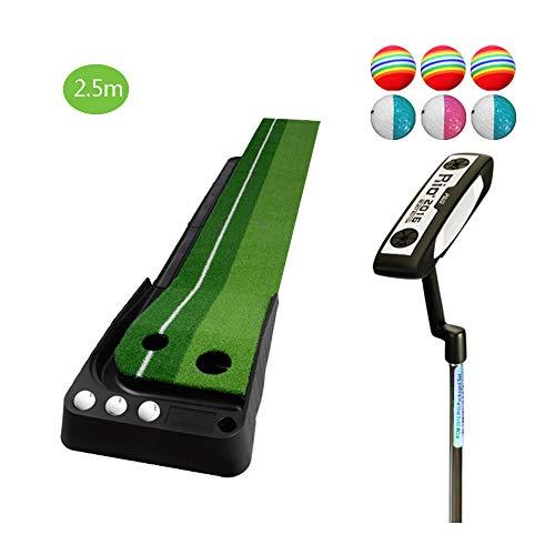 TESITE Home Golf Putting Esercizio per Bambini Stuoia per Esercizi per Adulti con Set di Cingoli (2,5 M * 41 Cm)