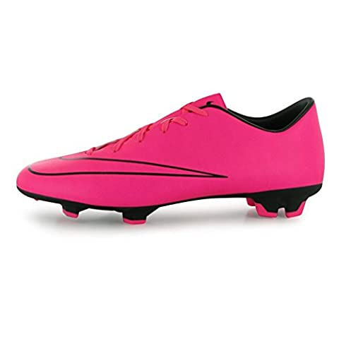 Nike Mercurial Victory FG Firm Ground Football Boots Mens Pink Soccer Cleats (UK8) (EU42.5) (US9)