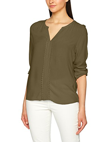 Vero Moda Vmharriet Mano 3/4 Top D2-4 Blusa, Verde (Ivy Green), 36 (Talla del Fabricante: Medium) para Mujer