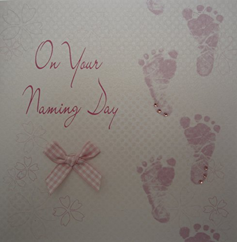 Cotone bianco carte rosa Footprints