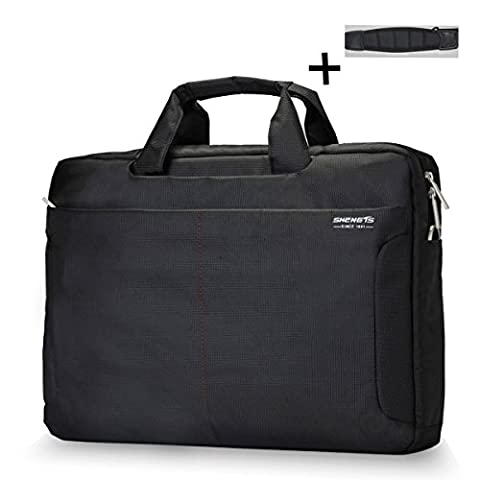 ShengTS Shoulder Bag 18 Inch Laptop Bag Fits Laptop up to 18.4 Inches Gaming Laptops Nylon Waterproof Fabric Laptop Sleeve Case Bag (18.4 Inches, Black)