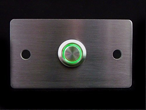 design klingelplatte v2a edelstahl klingel schild led beleuchtung gr n taster unterputz montage. Black Bedroom Furniture Sets. Home Design Ideas
