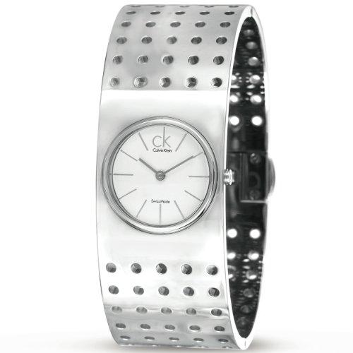 Calvin Klein Damen-Armbanduhr Analog edelstahl Silber K8322120