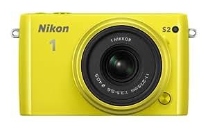Nikon 1 S2 Systemkamera (14 Megapixel, 7,5 cm (3 Zoll) LCD-Display, Wi-Fi-fähig, USB, HDMI, Full-HD-Videofunktion) Kit inkl. 1 Nikkor 11-27,5mm Objektiv gelb